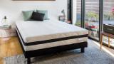 Matelas mousse haute densité 160x200 Aero Pure Hbedding - Mousse ergonomique haute densité et coutil déhoussable.
