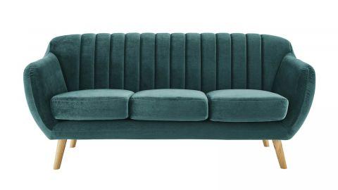 Canapé scandinave 3 places en velours vert – Collection Odda