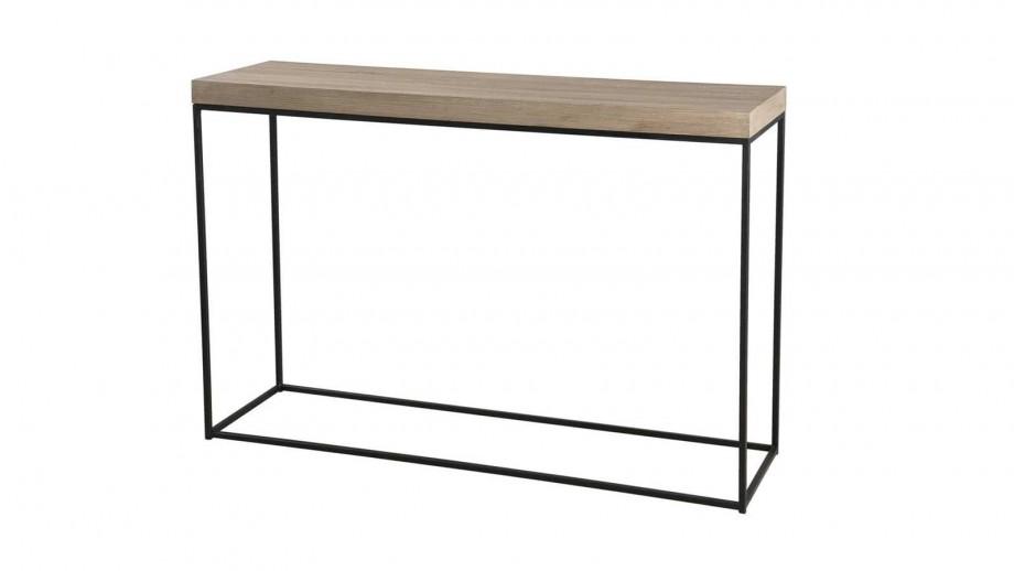 Ørjan - Console rectangle pieds droits métal