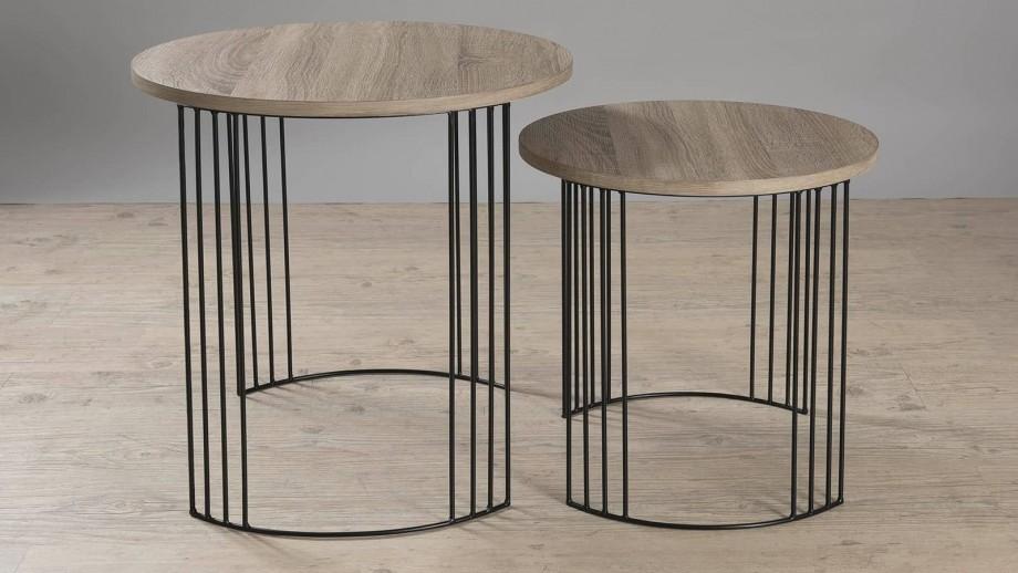 Ørjan - Set de 2 guéridons pieds métal