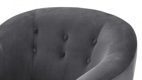 Fauteuil en velours gris – Collection Volga