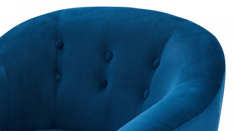 Fauteuil en velours bleu – Collection Volga