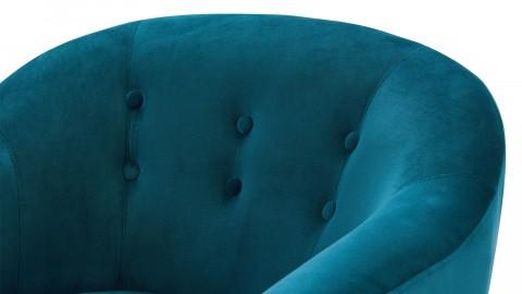 Fauteuil en velours bleu paon – Collection Volga