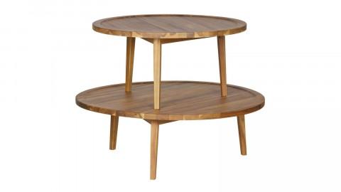 Table basse en bois naturel 35x100x100cm - Collection Sprokkeltafel