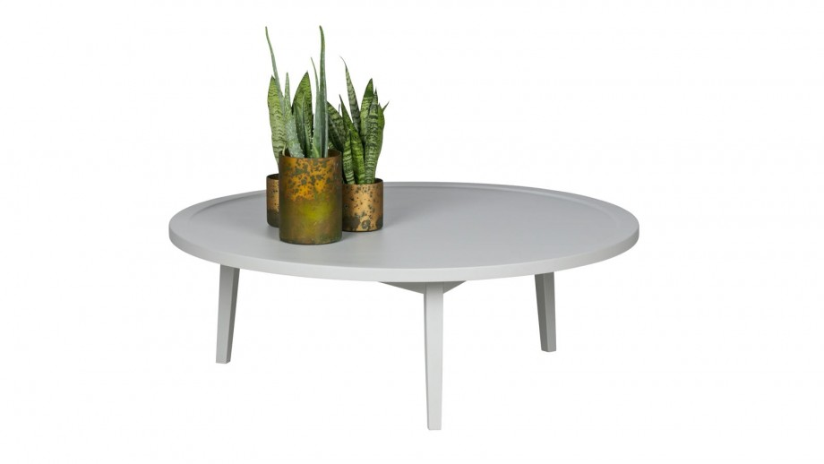 Table basse en bois gris 35x100x100cm - Collection Sprokkeltafel