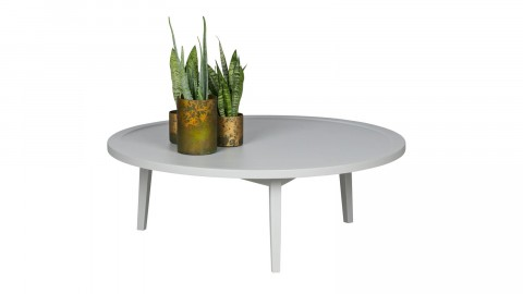 Table basse en bois gris 35x100x100cm - Collection Sprokkeltafel - Vtwonen