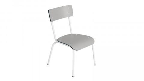 Chaise d'écolier élémentaire gris perle - Collection Colette - Les Gambettes