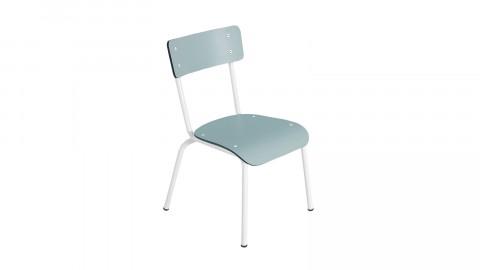 Chaise d'écolier élémentaire bleu jade - Collection Colette - Les Gambettes