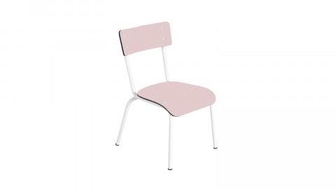 Chaise d'écolier élémentaire rose poudré - Collection Colette - Les Gambettes