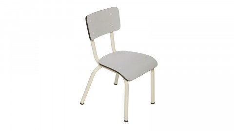 Chaise d'écolier enfant gris perle - Collection Little Suzie - Les Gambettes