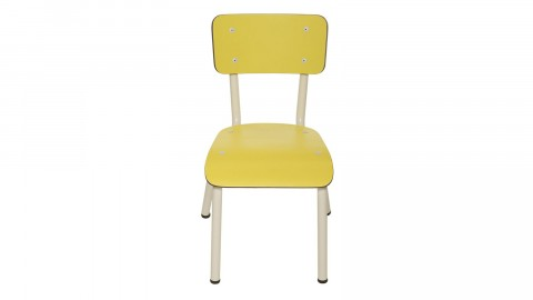 Chaise d'écolier enfant jaune citron - Collection Little Suzie - Les Gambettes