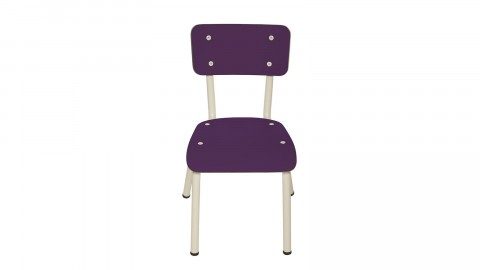 Chaise d'écolier enfant prune - Collection Little Suzie - Les Gambettes