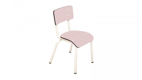 Chaise d'écolier enfant rose poudré - Collection Little Suzie - Les Gambettes