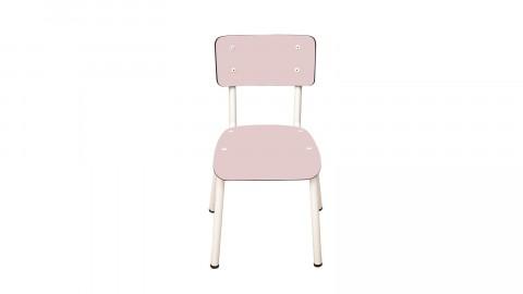 Chaise d'écolier enfant rose poudré - Collection Little Suzie - Les Gambettes