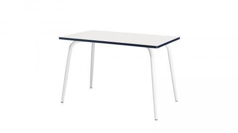 Table rétro 120x70cm blanche - Collection Véra - Les Gambettes