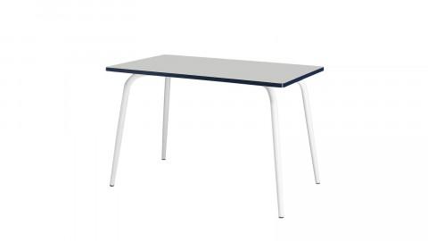 Table rétro 120x70cm gris perle - Collection Véra - Les Gambettes