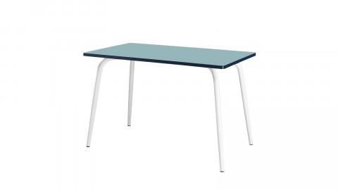 Table rétro 120x70cm bleu jade - Collection Véra - Les Gambettes