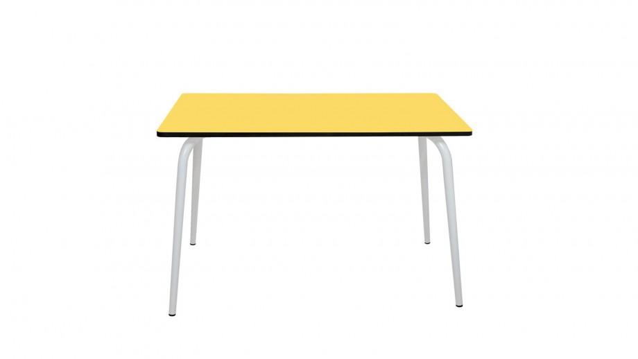 Table rétro 120x70cm jaune citron - Collection Véra - Les Gambettes