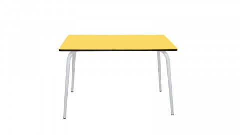 Table rétro 120x70cm jaune citron - Collection Véra - Les Gambettes
