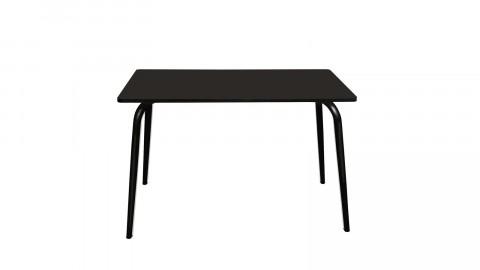 Table rétro 120x70cm noire pieds noirs - Collection Véra - Les Gambettes