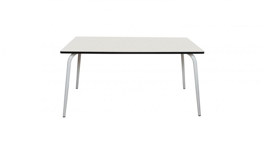 Table rétro 160x80cm blanche - Collection Véra - Les Gambettes