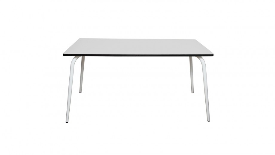 Table rétro 160x80cm gris perle - Collection Véra - Les Gambettes