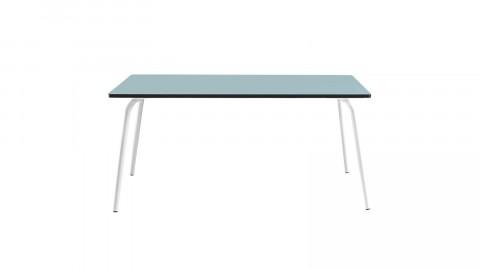 Table rétro 160x80cm bleu jade - Collection Véra - Les Gambettes