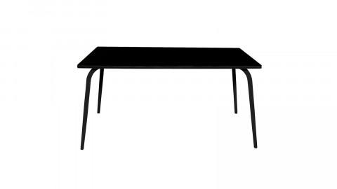Table rétro 160x80cm noire pieds noirs - Collection Véra - Les Gambettes