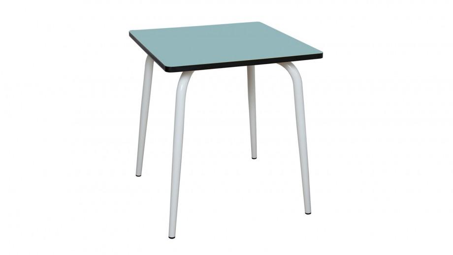 Table rétro 70x70cm bleu jade - Collection Véra - Les Gambettes