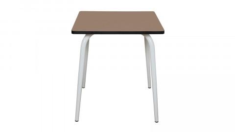 Table rétro 70x70cm taupe - Collection Véra - Les Gambettes