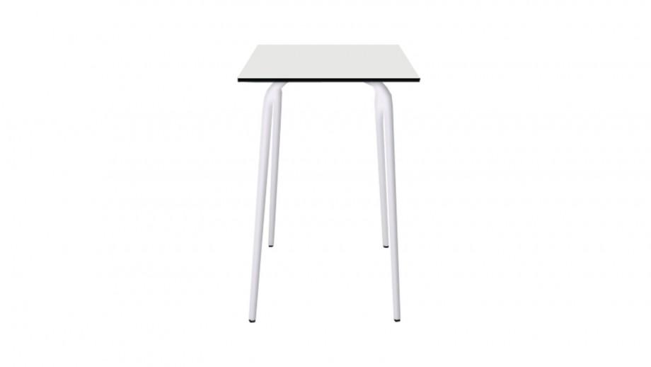 Table haute rétro 70x70cm blanche - Collection Véra - Les Gambettes