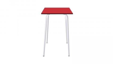 Table haute rétro 70x70cm rouge coquelicot - Collection Véra - Les Gambettes