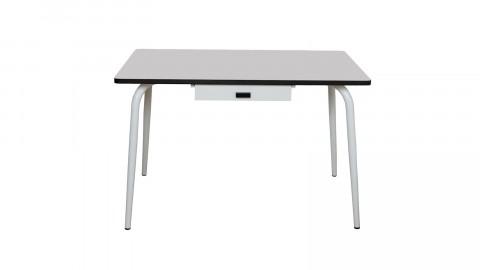 Table avec tiroir 120x70cm gris perle - Collection Véra - Les Gambettes