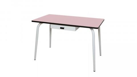 Table avec tiroir 120x70cm rose pourdré - Collection Véra - Les Gambettes