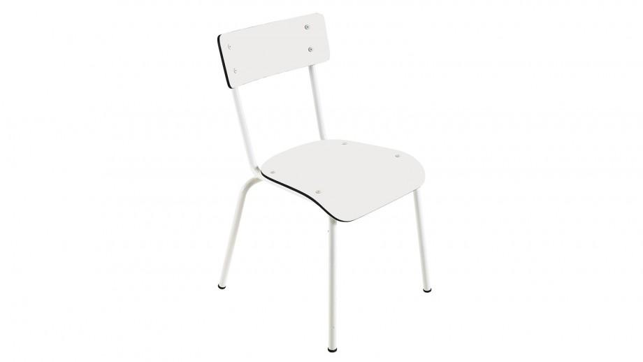 Chaise d'écolier adulte blanche - Collection Suzie - Les Gambettes
