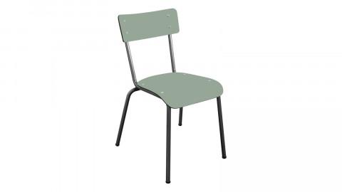 Chaise d'écolier adulte kaki pieds bruts - Collection Suzie - Les Gambettes