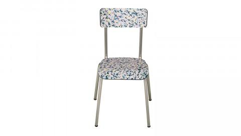 Chaise d'écolier adulte rose minéral pieds bruts - Collection Suzie - Les Gambettes