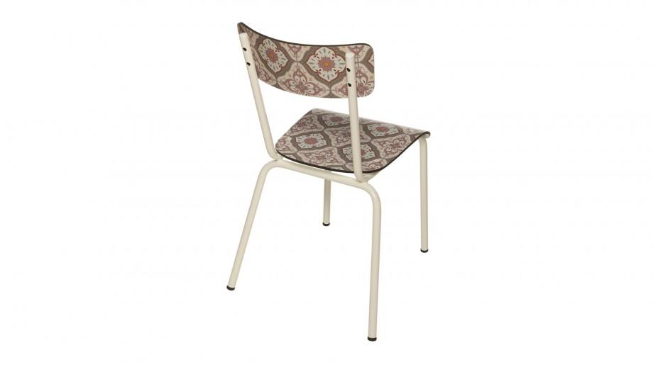 Chaise d'écolier adulte imprimé carreaux de ciment - Collection Suzie - Les Gambettes