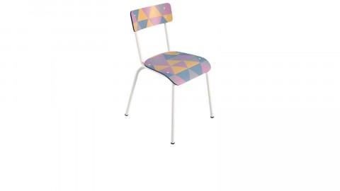 Chaise d'écolier adulte imprimé géométrique - Collection Suzie - Les Gambettes