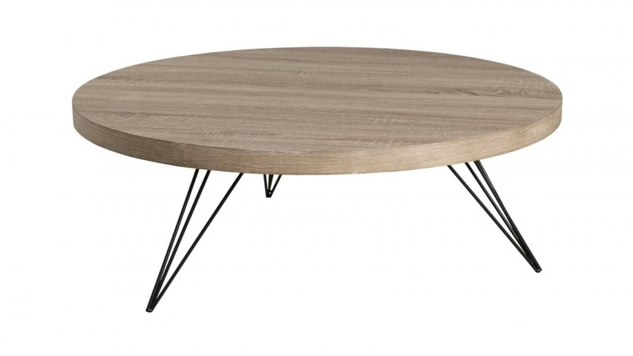 Ørjan - Table basse ronde 90 x 90 cm pieds scandi