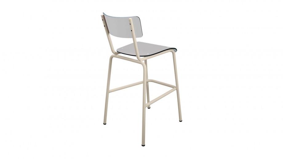 chaise haute 65 cm gris perle collection suzie les. Black Bedroom Furniture Sets. Home Design Ideas