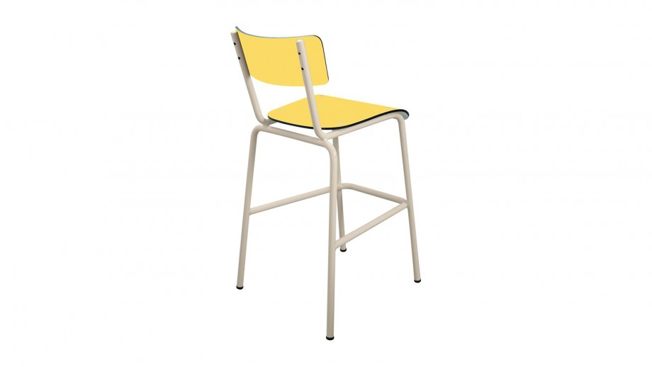 Chaise haute 65 cm jaune citron - Collection Suzie - Les Gambettes