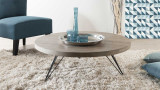 Ørjan - Table basse ronde 90 x 90 cm pieds scandi