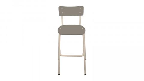 Chaise haute 65 cm taupe - Collection Suzie - Les Gambettes