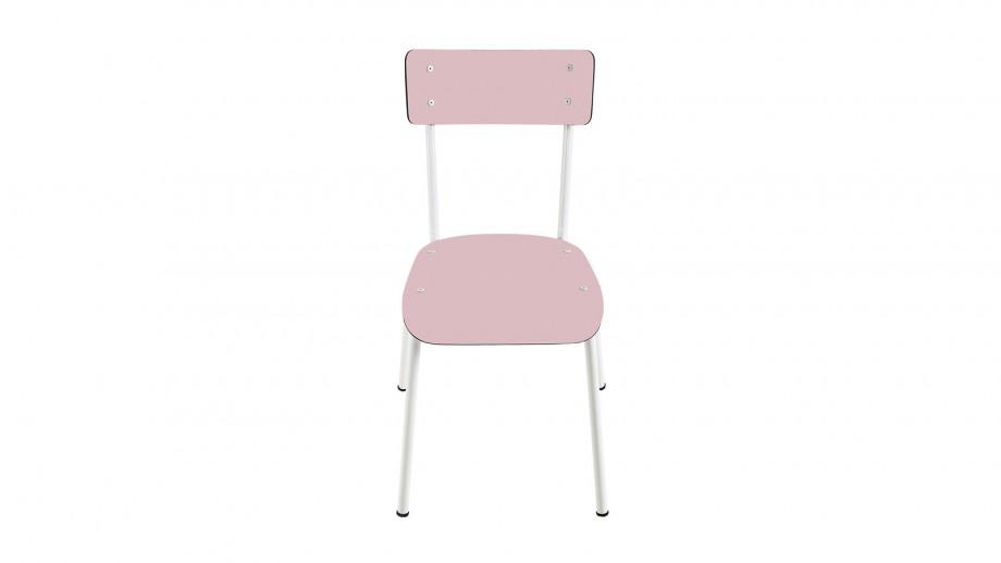 Chaise d'écolier adulte rose poudré - Collection Suzie - Les Gambettes