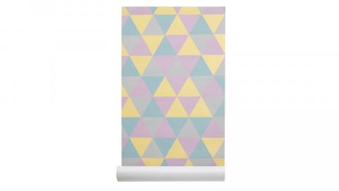 Papier peint imprimé géométrique - Collection Wallpaper - Les Gambettes