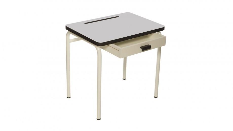Bureau d'écolier enfant gris perle - Collection Régine - Les Gambettes
