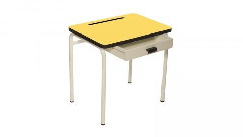 Bureau d'écolier enfant jaune citron - Collection Régine - Les Gambettes
