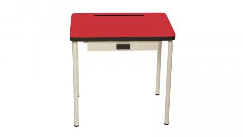 Bureau d'écolier enfant rouge coquelicot - Collection Régine - Les Gambettes