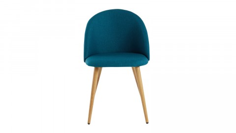 Lot de 2 chaises couleur bleu canard – Collection Romy